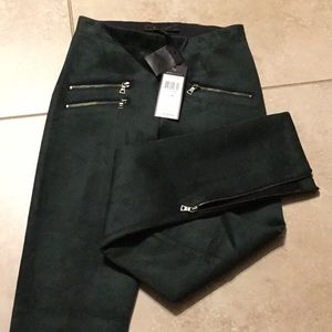 Bcbgmaxazria Sz XS legging dark green color